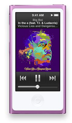 Apple - iPod nano with Multi-Touch. In white or purple.