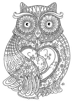adult coloring pages owl - Google Search