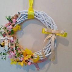 #wianek #wiosna #Wielkanoc #dekoracje #wieniec #wianuszek #diy #handmade #wreath #spring #Easter #flowers #decorations #design