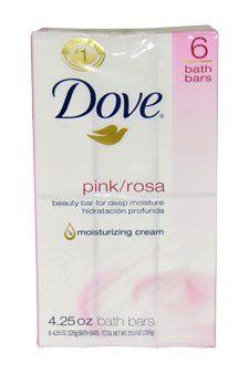 Dove Beauty Bars Soap for Women, Pink/Rosa, 6 Count - BodSkin