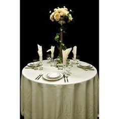 "Midas Event Supply Renaissance Tablecloth Size: 60"" x 120"", Color: Ivory"