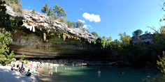 Hamilton Pool.  Great shot, hard to take it all in without a fish-eye lens.