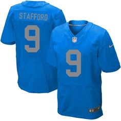 Men's Nike Detroit Lions #9 Matthew Stafford Elite Blue Alternate Jersey $129.99