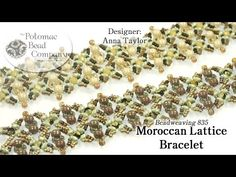 Make a Potomac Bead Company's Moroccan Lattice Bracelet - YouTube, all supplies from www.potomacbeads.com