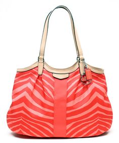 229.00 ~ Look what I found on  zulily! Hot Orange Signature Zebra Devin  Tote. Coach PursesCoach BagsCrossbody ... 3f1282fd5b