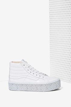 Nasty Gal x Vans Step Up Sk8-Hi Leather Platform Sneaker | Shop Shoes at