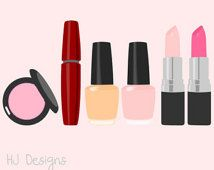 8 Vector Makeup Clip Art 300 DPI