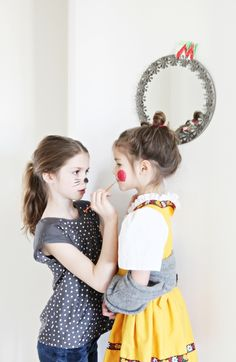 Doing your little sister's makeup for recitals
