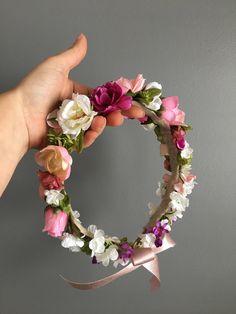 Baby Flower Crown, Flower Crown Headband, Flower Crown Wedding, Bridal Flowers, Floral Crown, Felt Flowers, Diy Flowers, Flower Crowns, Floral Headdress