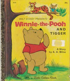 September Photo Challenge, Disney Presents, Happy Birthday Video, Walt Disney Studios, Little Golden Books, Vintage Children's Books, Bedtime Stories, Tigger, Winnie The Pooh