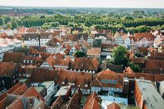 celle (niedersachsen, germany)  *** i love nothing more than views from above, so wherever i am, if there's a tower somewhere i need to climb it up. this is the view from the tower of church st. marien in celle – you get there by a long, narrow spiral staircase that eventually makes you feel slightly dizzy, but it's definitely worth the view!  *** instagram / tumblr