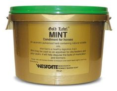 Gold Label Pure Pulverised Mint 600g - Feed regularly to Colic prone horses by William Hunter Equestrian. Gold Label Pure Pulverised Mint 600g - Feed regularly to Colic prone horses.