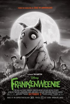 "From creative genius Tim Burton comes Frankenweenie, a heartwarming tale about a boy and his dog. After unexpectedly losing his beloved dog Sparky, young Victor harnesses the power of science to bring his best friend back to life-with just a few minor adjustments. He tries to hide his home-sewn creation, but when Sparky gets out, Victor's fellow students, teachers and the entire town all learn that getting a new ""leash on life"" can be monstrous."