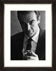 Tablou Framed Art Sean Connery #homedecor #inspiration #interiordesign #decoration Sean Connery, James Bond, Framed Art, Handsome, Glamour, Retro, Decoration, Modern, Poster
