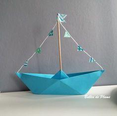 Bulles de Plume: DIY Petit bateau #DIY #bateau #origami