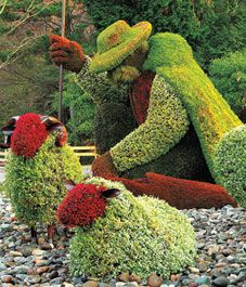 One of the amazing horticultural sculptures that was at a previous Mosaicultures. Visit the new exhibition in Montreal this summer!