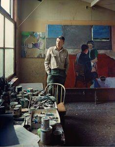 loverofbeauty: Richard Diebenkorn by Fred Lyon.