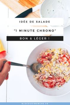 Voilà une idée de salade express à faire quand on est pressé, avec la recette de ma sauce magique qui va avec ! Léger et délicieux ! Eplinglez pour plus tard, ou cliquez pour lire tout de suite !