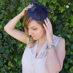 Blue Fascinator Blue Fascinator, Trending Outfits, Unique Jewelry, Handmade Gifts, Clothes, Etsy, Vintage, Kid Craft Gifts, Outfits