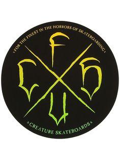 CREATURE STAAG Skateboard Sticker 4in white//black