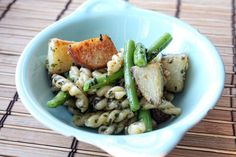 Pasta Salad with Pesto, Potatoes, and Beans