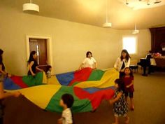 Dalcroze lesson using parachute-cool! Matching pitch and establishing tonality/tonic. Can be used for so and mi. Parachute Games For Kids, Music For Kids, Children Music, Preschool Music, Music Activities, Kindergarten Music, Music And Movement, Dance Movement, Singing Lessons
