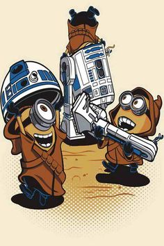 Star Wars minions--LOL combo of Tim and I's favorites!!