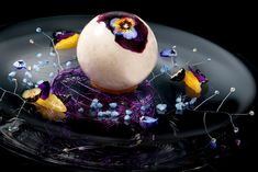 The Willy Wonka Blueberry Balloon at This Michelin-Starred Restaurant Is the Most Gorgeous Dessert Ever