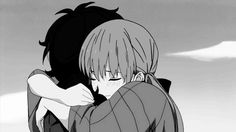 Tonari no Kaibutsu-kun (Gif) - Haru Yoshida & Shizuku Mizutani Hug Gif, Gif Animé, Kiss Gifs, My Little Monster, Little Monsters, Manga Love, I Love Anime, Calin Gif, Anime Bisou