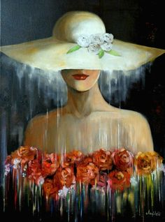 "Saatchi Art Artist: Anna Rita Angiolelli; Oil 2015 Painting ""Mistero"""