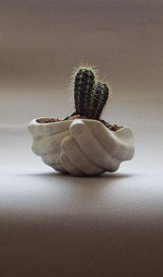 These Indoor Planters are Shaped Like Cupped Hands #planters #plantpots trendhunter.com