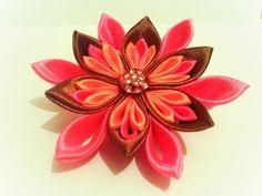 Мастер класс канзаши.Цветок для начинающих мастеров. - YouTube