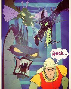 #dragonslair #illustrator #dragon #dirk #maleficent