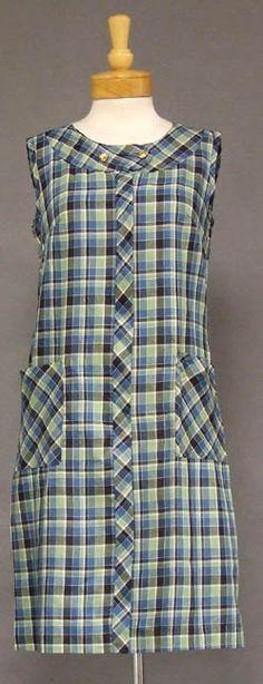 Vintageous, LLC - Plaid Cotton 1960's House Dress w/ Patch Pockets, $70.00 (http://www.vintageous.com/plaid-cotton-1960s-house-dress-w-patch-pockets/)