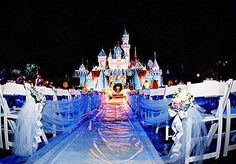 Disney wedding-- OH MY GOSH. I would not be satisfied with anything else (but I'm ALREADY married!)