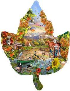 Autumn Shoreline Shaped Jigsaw Puzzle - Shaped Puzzle