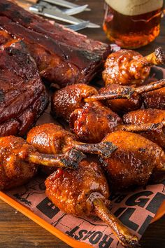 Chicken Lollipops with Champagne BBQ Sauce. Pack a punch this holiday season and kick off the New Year with this BBQ staple. Traeger smoked chicken lollipops are dunked into a sweet and tangy champagne BBQ sauce, smoked over applewood and finished with a sweet glaze for a smokin' treat fit for any party. ⠀