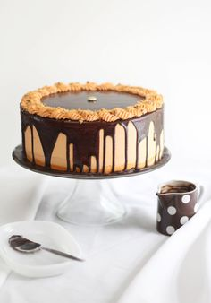 Sprinkle Bakes: Chocolate-Butterfinger Overflow Cheesecake