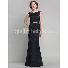 Trumpet/Mermaid Scoop Floor-length Lace And Satin Mother of the Bride Dress in Champagne or Blushing Pink from Lightinthebox.com