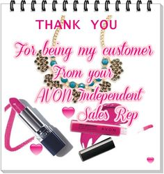 AVON online Thank you note for AVON sales reps..just add your name to the bottom like i did with my personalized one