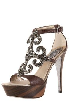 "Rene Caovilla shoes made with ""Crystal Rocks"" made by Swarovski Elements!  www.harmanbeads.com"