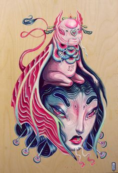 On Friday, July Superchief Gallery will proudly unveil new works from the prolific Bay Area artist and muralist Lauren YS. Zach Tutor of Su. Bizarre, Hippie Art, Weird Art, Animation, Psychedelic Art, Pretty Art, Magazine Art, Japanese Art, Cool Drawings