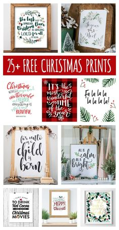 Free Christmas Printables That'll Look Great In Your Home | Eighteen25