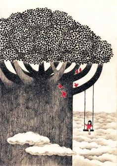 tree swing above the clouds {repin}