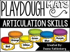 This pack contains 20 play dough mats to practice articulation skills in a classroom or speech therapy setting. Each mat contains 12 pictures, 4 pictures for each position (initial, medial and final). One mat is included for each of the following phonemes:/P, B, D, T, M, J, SH, CH, TH, F, V, K, G, S, R, L, Z, L blends, S blends, R blends/*If you have any questions, please ask BEFORE purchasing, thanks!*