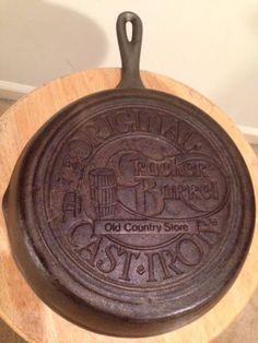"Cast Iron Pan ORIGINAL CRACKER BARREL COUNTRY STORE 10"" Skillet Fry Lodge Decor"