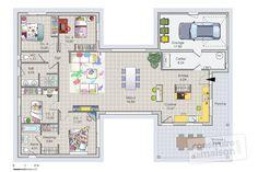 Plan habillé Rdc - maison - Une maison bois agréable à vivre