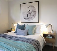 Coastal bedroom by @sapphire_living