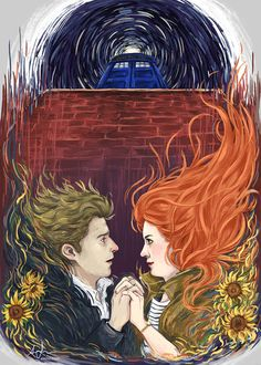"""""""Together, or not at all.""""I adore this…drawing from previous episodes of Smith's run and utilizing the sun flowers and the Van Gogh-esque brush strokes? This is incredible. In-CREDIBLE."""