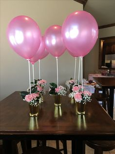 Centerpiece Pink Gold Pinkandgoldparty Ballons Balloon Decorations Party Baby Shower